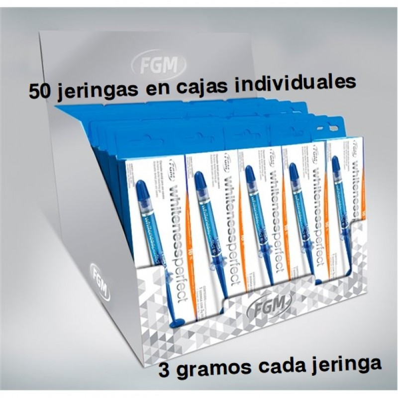 BLANQUEAMIENTO WHITENESS PERFECT 10% Y 16% (USO EN CASA) - 50 JER.