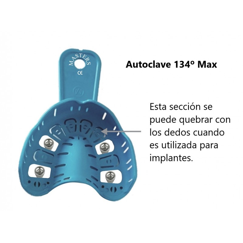 Kit 6 Cubetas Plásticas Perforadas general e implantes