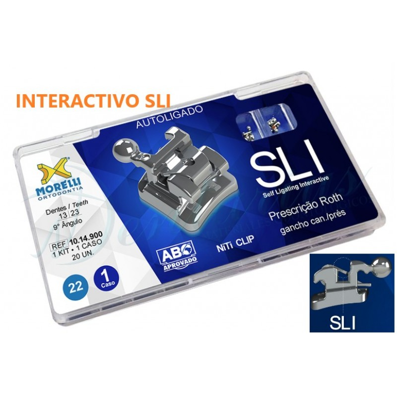 Kit de Brackets autoligables Roth SLI - Ganchos 3,4,5 Slot .022""