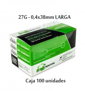 AGUJAS STARLINE 27G LARGA 0,4x38mm.