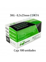 AGUJAS STARLINE 30G CORTA 0,3x25mm.